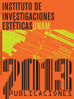 Catálogo de publicaciones 2013 - Instituto de Investigaciones