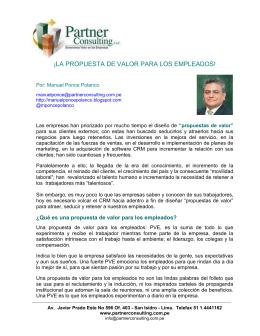 LA PROPUESTA DE VALOR PARA LOS EMPLEADOS