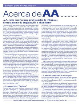 Primavera 2010: A.A. como recurso para profesionales de tribunales
