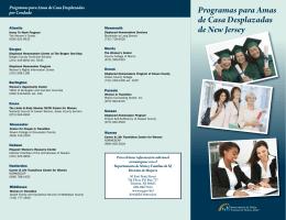 Programas para Amas de Casa Desplazadas de New Jersey
