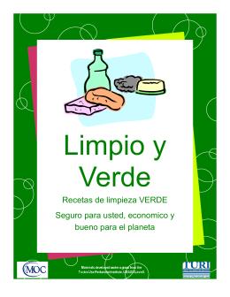 Recetas de limpieza VERDE Seguro para usted, economico y