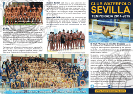 plantilla - Club Waterpolo Sevilla