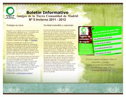V Boletín AdT Madrid 2011