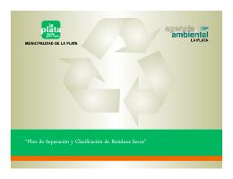 """""""Plan de Separación y Clasificación de Residuos Secos"""""""