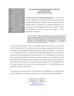 DE NUESTRO PATRIMONIO DOCUMENTAL DIGITALIZADO Folleto