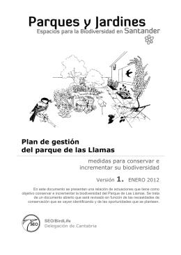 Plan de gestión del parque de las Llamas