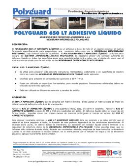 POLYGUARD 650 LT ADHESIVO LÍQUIDO