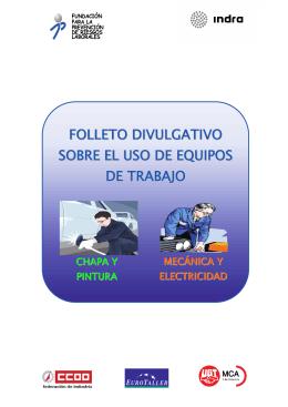 FOLLETO DIVULGATIVO SOBRE EL USO DE EQUIPOS