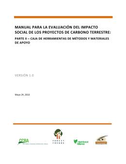 Manual para la Evaluación del Impacto Social de los