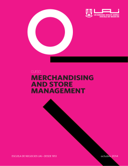 merchandising and store management