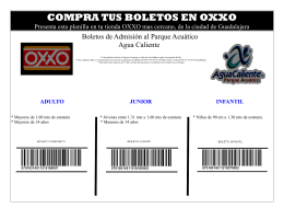 folleto oxxo oxxo
