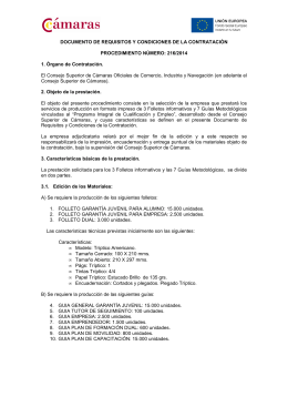 DOCUMENTO DE REQUISITOS Y CONDICIONES DE LA