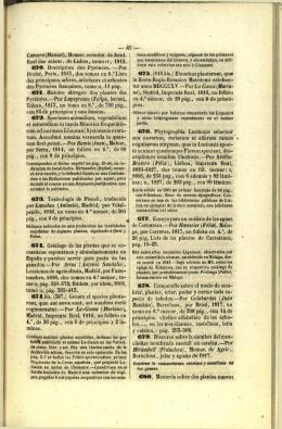 Cámara (Manuel), Memor. económ. da Acad. Real das scienc. de
