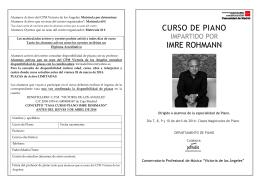 FOLLETO CURSO IMRE ROHMANN 2014