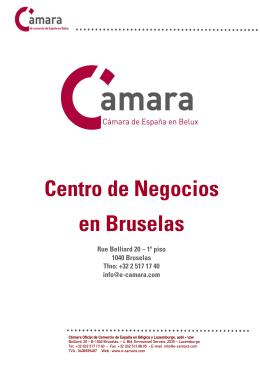 Centro de Negocios en Bruselas - Cámara Oficial de Comercio de