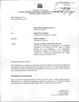 CÁMARA DE DIPUTADOS DE LA REPÚBLICA DOMINICA