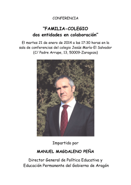Folleto Charla Manolo Magdaleno