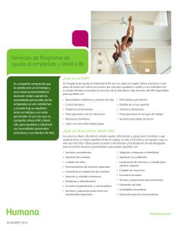 Servicios de Programa de ayuda al empleado y Work-Life