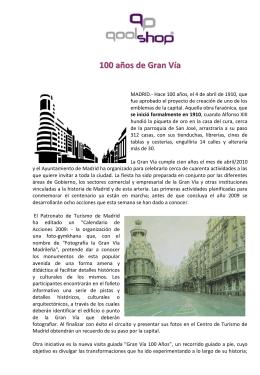 100 años de Gran Vía