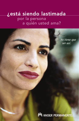 Are You Being Hurt by Someone You Love? (Spanish)