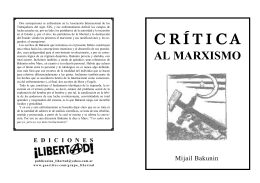 Cr.tica al marxismo, Bakunin1