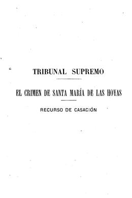 El Crimen de Santa María de las Hoyas