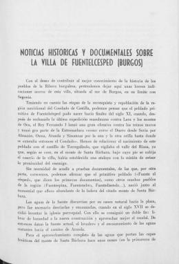 NOTICIAS HISTORICAS Y DOCUMENTALES SOBRE