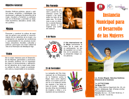 Instancia Municipal para el Desarrollo de las Mujeres