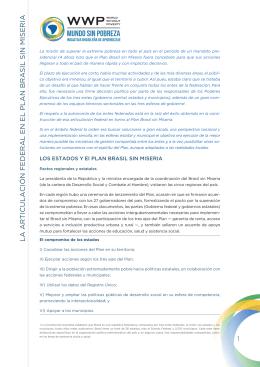 El Plan Brasil sin Miseria: Articulación federal