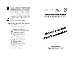 Para el Periodo Agosto-Diciembre 2013 INSTITUTO