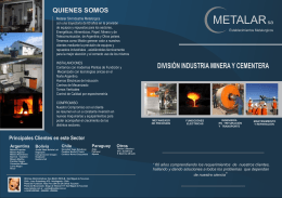 FOLLETO METALAR 2012