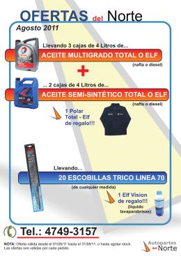 Ofertas Agosto 2011 folleto.cdr