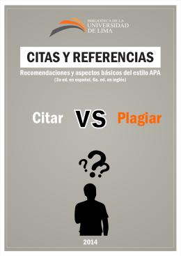 Citas y referencias - Universidad de Lima