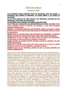 LUC 11.14-23 JESÚS ¿DEL DIABLO