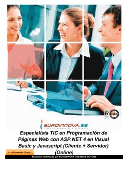 Especialista TIC en Programación de Páginas Web con ASP.NET 4