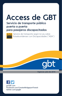 Access de GBT - Greater Bridgeport Transit