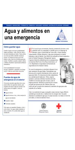 Agua y alimentos en una emergencia