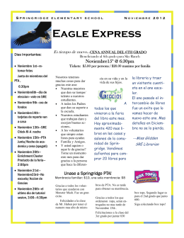 Eagle Express - Springridge Elementary PTA