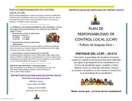 LCAP Summary Brochures_Spanish