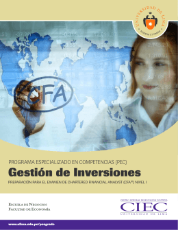 Folleto Gestion Inversiones CFA 2013 - PDF