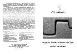 NYU in Madrid - Department of Spanish and Portuguese Languages