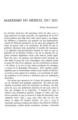 MARXISMO EN MÉXICO, 1917-1925