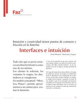 Interefaces e intuición - faz, revista de diseño de interacción