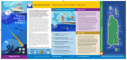 Programa de Boyas de Amarre Ecológicas