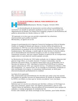 La CIA en Guatemala. Roberto García
