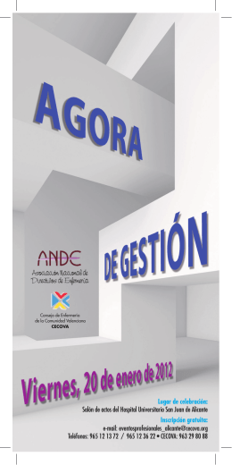 folleto agora ANDE.indd