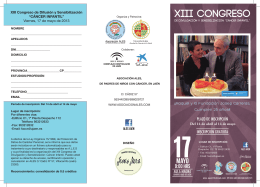 FOLLETO e INSCRIPCION XIII CONGRESO ALES