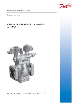Válvulas de solenoide de dos tiempos, tipo PMLX Folleto técnico