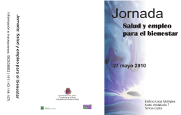 Folleto jornada salud 2010