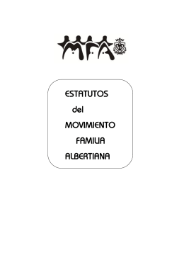 ESTATUTOS del MOVIMIENTO FAMILIA ALBERTIANA